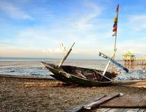 Un pêcheur abandonné Boat Photo stock