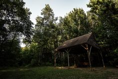 Un pabellón en parque de naturaleza Fotos de archivo libres de regalías