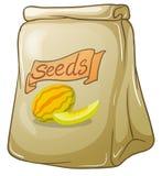 Un pacchetto dei semi dell'anguria illustrazione di stock
