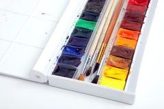 Un pacchetto della vernice del watercolour fotografia stock libera da diritti
