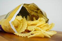 Un pacchetto di chip del taglio della piega Immagini Stock Libere da Diritti