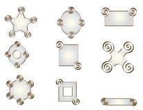 Un pacchetto di nove forme di toni della perla. Fotografie Stock