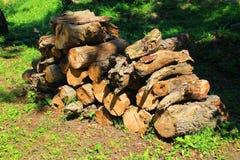 Un pacco di legna da ardere Fotografia Stock Libera da Diritti