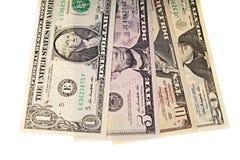 Un pacco di venti banconote in dollari Fotografia Stock Libera da Diritti