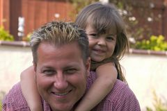 Un padre e la sua figlia Fotografia Stock Libera da Diritti