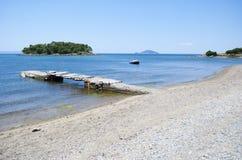 Un paesaggio dalla penisola di Sithonia Fotografie Stock Libere da Diritti