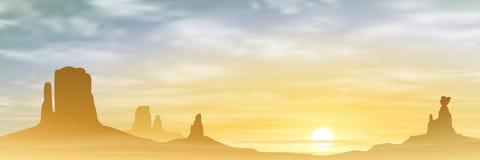 Un paesaggio del deserto Fotografie Stock