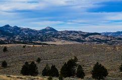 Un paesaggio 2 del paese del Wyoming Fotografie Stock Libere da Diritti