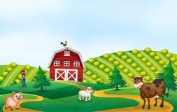 Un paesaggio del terreno coltivabile della natura royalty illustrazione gratis