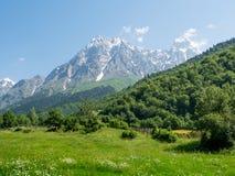 Un paesaggio delle montagne Fotografie Stock Libere da Diritti
