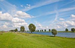 Un paesaggio olandese tipico Immagini Stock Libere da Diritti