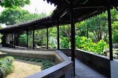 Un paesaggio prolungato del giardino Fotografia Stock