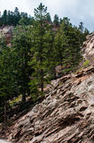 Un paesaggio roccioso di sette cadute a Colorado Springs fotografia stock