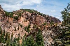 Un paesaggio roccioso di sette cadute a Colorado Springs Immagini Stock