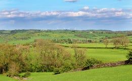 Un paesaggio rurale inglese nel distretto di punta Fotografia Stock Libera da Diritti
