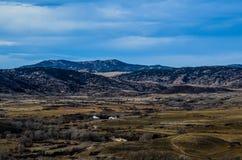 Un paesaggio scenico del paese del Wyoming Fotografie Stock