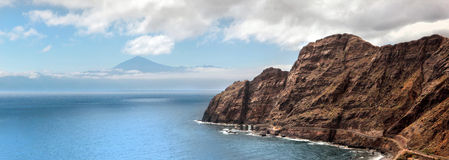 Un paesaggio stupefacente da La Gomera Fotografia Stock Libera da Diritti