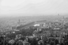 Un paesaggio urbano di Verona Fotografia Stock Libera da Diritti