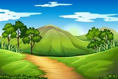 Un paesaggio verde Immagini Stock