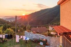 Un paesino di montagna in Toscana del sud, Italia Immagine Stock