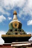 Un Pagoda tibetano Fotografie Stock Libere da Diritti