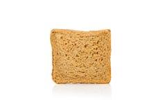 Un pain carré a découpé en tranches d'isolement sur le blanc Image libre de droits