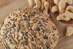 Un pain de blé entier Images stock
