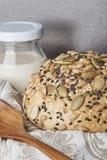 Un pain de blé entier Image libre de droits