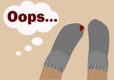 Un paio dei calzini bucati Fotografia Stock Libera da Diritti