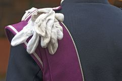 Un paio dei guanti bianchi Fotografia Stock Libera da Diritti