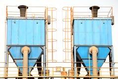 Un paio del collettore di polveri nel colore blu Immagine Stock