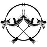 Un paio del festival di barca di drago firma l'illustrazione Fotografie Stock Libere da Diritti