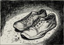 Un paio delle scarpe da tennis illustrazione di stock