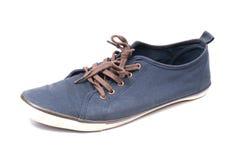 Un paio delle scarpe da tennis blu di camminata Immagine Stock Libera da Diritti