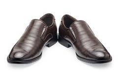 Un paio delle scarpe di cuoio marroni classiche per gli uomini, senza laccetti Immagine Stock Libera da Diritti