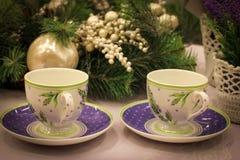 Un paio delle tazze eleganti Immagine Stock Libera da Diritti