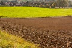 Un paisaje agrícola Fotografía de archivo libre de regalías