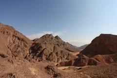 Un paisaje de la biblia - abandone Sinaí en invierno Imagenes de archivo