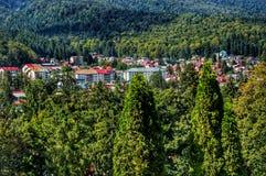 Un paisaje de la ciudad de A en Europa imagen de archivo