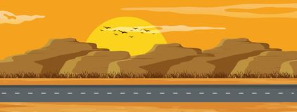 Un paisaje del camino de Arizona libre illustration