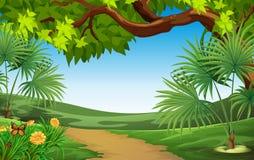 Un paisaje hermoso ilustración del vector