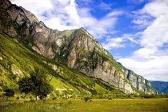 Un paisaje hermoso de montañas Imagen de archivo