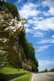 Un paisaje hermoso de montañas Imágenes de archivo libres de regalías