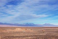 Un paisaje hermoso en el desierto de Atacama fuera de San Pedro Imagen de archivo libre de regalías