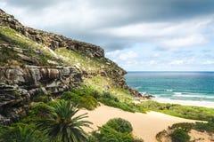Un paisaje hermoso en Palm Beach, Australia imagen de archivo