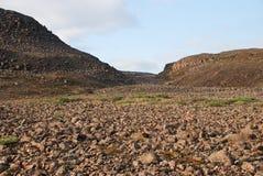 Un paisaje rocoso Fotos de archivo