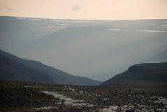 Un paisaje rocoso Fotos de archivo libres de regalías