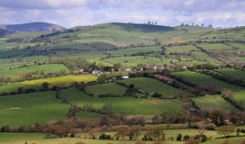 Un paisaje rural inglés Foto de archivo libre de regalías
