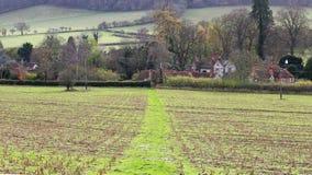 Un paisaje rural inglés en las colinas de Chiltern Fotografía de archivo libre de regalías