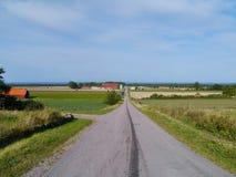 Un paisaje sueco rural Fotos de archivo libres de regalías